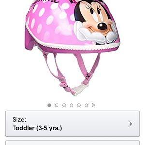 Minnie Mouse bike helmet